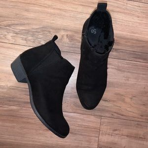 SO Women's Black Ankle Booties, Size 10